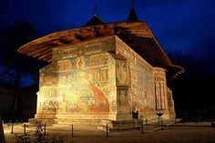 Voonet monastery, Bukovina, Unesco World Heritage site. Church from exterior paintings from 1535 Bucharest, Future Travel, Exterior Paint, Homeland, Romania, Mount Rushmore, Places To Visit, Explore, Mountains