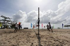 Coco Grove beach resort, beach tennis playground!
