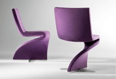 Creative Upholistered Purple Swivel Chair for living Room
