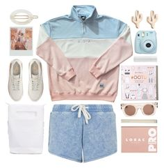"""""""chillin"""" by foundlostme ❤ liked on Polyvore featuring NIKE, adidas Originals, BBrowBar, LORAC, Christopher Kane, France Luxe, Fuji, Sole Society, Hollister Co. and teen"""