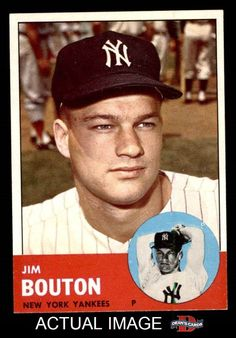 1963 Topps Jim Bouton Baseball Card for sale online Damn Yankees, New York Yankees, Baseball Photos, Sports Photos, Yankees News, Baseball Cards For Sale, Yankee Stadium, American League, National League