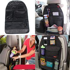 Asiento de coche del bolso del almacenaje del coche cubre asiento trasero organizador automático Multi del bolsillo organizador bolsa Interal accesorios estiba poner en orden