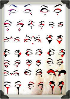Harley Quinn Eye Make Up Ideas --Be your own Whyld Girl with a wicked tee today! http://whyldgirl.com/tshirts