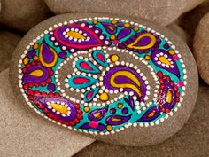 Dipped My Brush In Paisley /Painted Rock / by LoveFromCapeCod