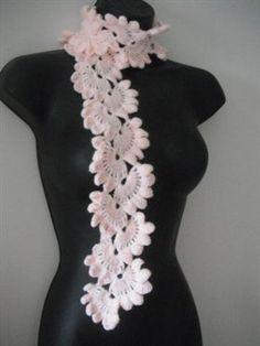 Lovely crochet lacy scarf!  Free pattern at:   https://www.youtube.com/watch?v=Lc079hsgkiQ