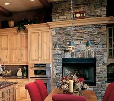 country ledgestone bucks country | Cultured Stone Bucks County Southern Ledgestone kitchen dining room ...