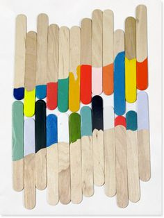painted popsicle sticks!