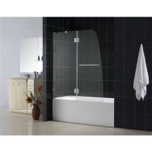 Tub shower combo with 3/4 glass door