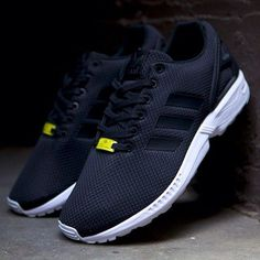 Custom Adidas ZX Flux lifestyle womens Shoes Mens Black Xeon More a casual shoe #esty, but really cool looking
