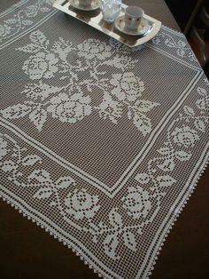 Crochet Patterns Filet, Vintage Crochet Patterns, Crochet Borders, Doily Patterns, Loom Patterns, Crochet Motif, Crochet Table Runner, Crochet Tablecloth, Crochet Dollies