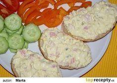 Dobrá pomazánka na chlebíčky recept - TopRecepty.cz No Salt Recipes, Snack Recipes, Cooking Recipes, Czech Recipes, Ethnic Recipes, Hungarian Recipes, Food 52, Party Snacks, Yummy Treats