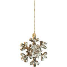 Silver Wood Snowflake Ornament   Hobby Lobby