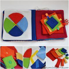 quiet book my-handmade Diy Quiet Books, Baby Quiet Book, Felt Quiet Books, Baby Crafts, Felt Crafts, Fabric Crafts, Sewing For Kids, Diy For Kids, Crafts For Kids