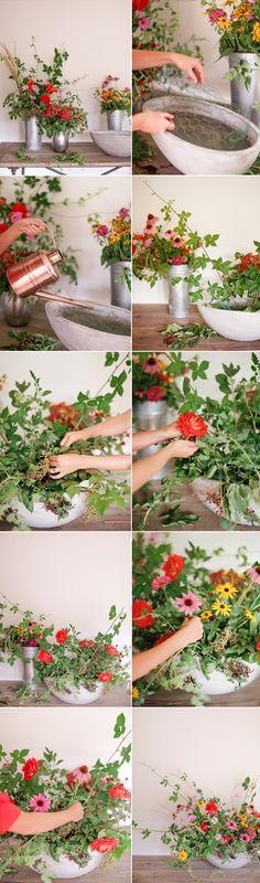 DIY Summer Floral Centerpiece