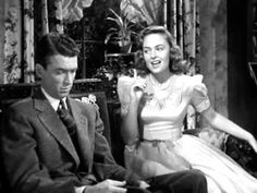 """""""It's A Wonderful Life"""" James Stewart and Donna Reed. Phone scene. To me, the greatest movie scene of all time; the acting, the editing, the writing. I can't get to the end of it without choking up."""
