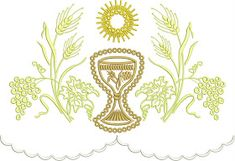 B O R D A D O S E R V I C E: PARAMENTOS LITURGICOS Machine Embroidery Applique, Corpus Christi, Embroidery Designs, Tapestry, Decor, Crossstitch, Block Dress, Needlepoint, Embroidery