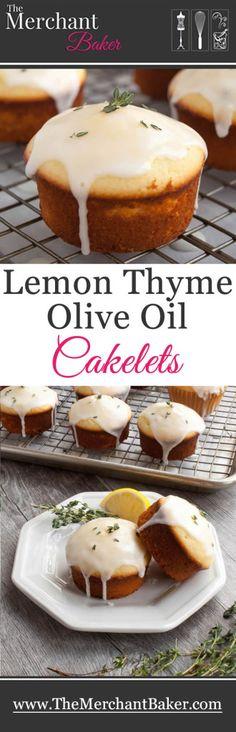 Lemon Thyme Olive Oil Cakelets