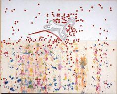 """ALIGHIERO E BOETTI - Di palo in frasca nell'estate dell'anno millenovecentottantasei, accanto al Pantheon - L'immagine della scimmia allude all'agilità del pensiero umano capace, come recita il titolo, di saltare """"di palo in frasca"""". #free #renovations #reggiadicaserta"""