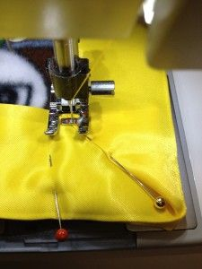 mitered corner -- Attaching Satin Blanket Binding - I ALWAYS use satin binding on baby blankets, time after time mother's tell me how much their child loves to rub and touch the satin.--jw