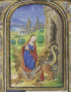 Saint Margaret, 1469, Lieven van Lathem, MS. 37, FOL. 49V. J. Paul Getty Museum