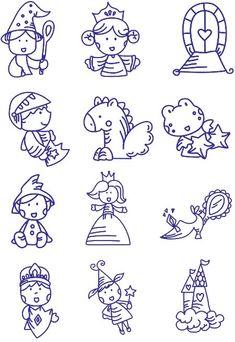 12 diseños de bordado de fantasía