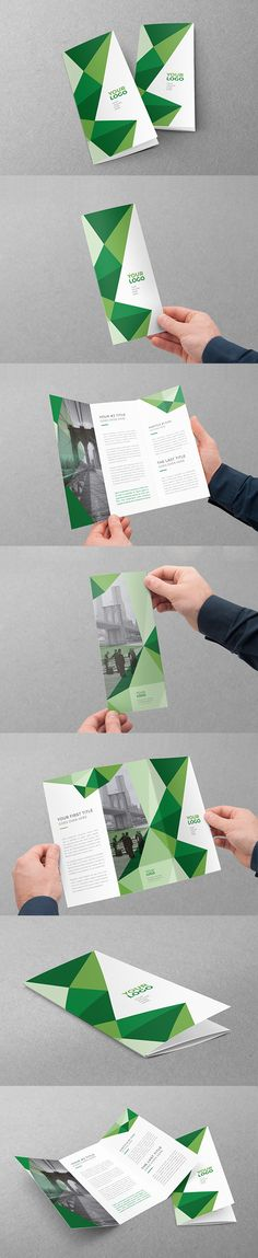 Green Geometric Pattern Trifold. Download here: http://graphicriver.net/item/green-geometric-pattern-trifold/12294577?ref=abradesign