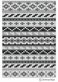 Erssie - Knitting Charts - Small Fair Isle Borders fair isle pattern - beautiful as an embroidery pattern too. border ideas for fair isle designs Always aspired to discove. Fair Isle Knitting Patterns, Bead Loom Patterns, Knitting Charts, Knitting Stitches, Knitting Designs, Beading Patterns, Embroidery Patterns, Loom Knitting, Free Knitting
