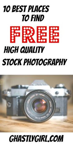 The 10 best places to find free high quality stock photography online. Great for bloggers, website owners, and other writers.