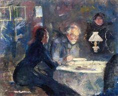 Edvard Munch - At Supper, 1884.