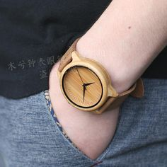 Hot Selling Japanese MIYOTA Movement Wristwatch Genuine Leather Bamboo Wooden Watches For Men And Women Bracelet Check it out!  #shop #beauty #Woman's fashion #Products #Watch