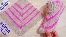 Super easy women booties knitting basics: Super easy two skewers women booties Knitting Designs, Knitting Patterns Free, Free Knitting, Knitting Projects, Baby Knitting, Crochet Patterns, Knitting For Kids, Loom Knitting, Knitting Socks