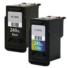 Canon PG-240XL (COMBO set of 2) BK + cl generic Printer Ink Cartridges, Canon Ink, Usb Flash Drive, Electronics, Phone, Cl, Watch, Ink Cartridges, Desk