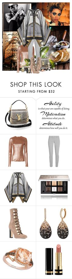 """""""Why don't you love me?!"""" by lady-redrise ❤ liked on Polyvore featuring Zimmermann, DKNY, Louis Vuitton, Givenchy, Jimmy Choo, LE VIAN, Gucci and Estée Lauder"""
