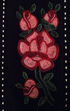Baby Belt by Doris Blake Native Beadwork, Native American Beadwork, Loom Beading, Beading Patterns, Beaded Embroidery, Embroidery Designs, French Curtains, Embroidered Roses, Beadwork Designs