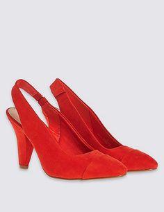 Angular Heel Slingback Court Shoes | Marks & Spencer London