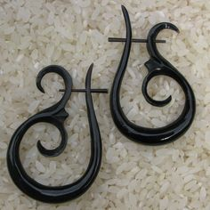 black bone earrings
