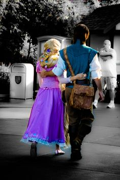 Rapunzel and Flynn Rider. Wonder if I could talk chad into this