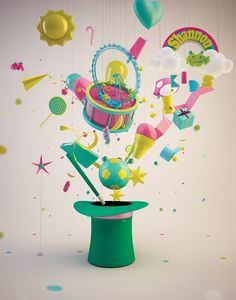 bubble gum love! http://www.digitalartsonline.co.uk/tutorials/cinema-4d/give-3d-scene-bubblegum-shine/