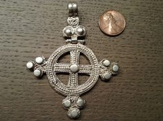 Large Ethiopian coptic cross, hinged, antique/old. good silver, Solomonic design,Lost wax system with file grain and granulate, Top shelf. by Shebastreasures650 on Etsy