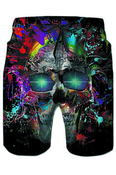 Galaxy Voyage Cute Sloth Face Boys Mens Swim Trunks Surf Pants 3D Swimming Trunks Board Shorts for Men