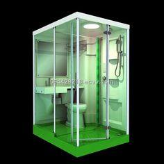 Shower Pods, Tiny Bathrooms, Prefab, Bathroom Organization, Bathroom Medicine Cabinet, Locker Storage, Crochet Jumper, Bathroom Stuff, Furniture