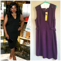 🎉HP🎉TORY BURCH DECLAN SHEATH DRESS 🎉HOST PICK🎉6/11/16 🎉NEW....                                                              Tags are still attached.                                Mindy Kaling wearing the same dress in black Charming button tabs adorn this rich wool blend design for added flair.  Color: Dark plum Tory Burch Dresses Midi