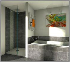 Anthrazit Bad Mit Mosaik Fliesen Klockenheide Der Baublog - Http ... Badezimmer Mit Und Anthrazit
