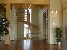Musterhaus VISION | Fertighaus WEISS | Treppenaufgang | stairs