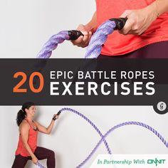 20 Epic Battle Ropes Exercises #battleropes #strength #exercise