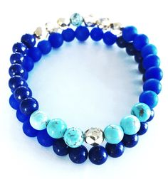 Hues of Blue bracelet