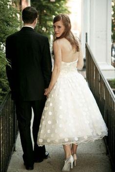 bridal portraits tea length dress | tea length wedding dress- ballet style