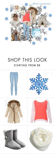"""""""Winter Wonderland"""" by traceygraves ❤ liked on Polyvore featuring 7 For All Mankind, Sandro, UGG Australia and Pandora"""