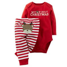 Christmas 2-Piece Bodysuit & Pant Set from Carters.com. Shop clothing & accessories from a trusted name in kids, toddlers, and baby clothes.