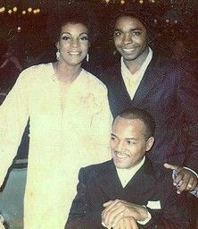 James Jamerson (seated) with Martha Reeves.